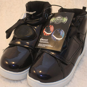 Shoe Beatz Girls Size 3 Hightop black shoes